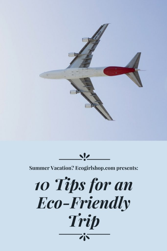 tips for greener air travel and an eco-friendly airplane trip
