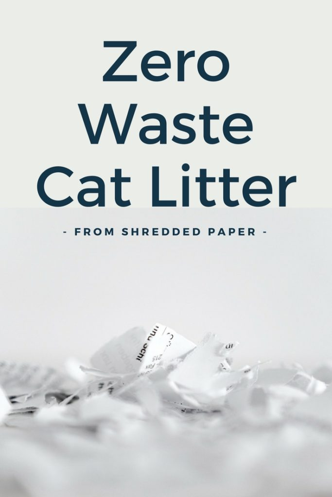 shredded paper cat litter