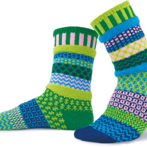 solmate socks water lily crew socks recycled cotton